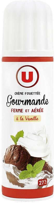 Crème sucrée vanillée UHT sous pression 27% de MG - Product