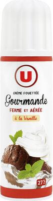 Crème sucrée vanillée UHT sous pression 27%mg - Product - fr