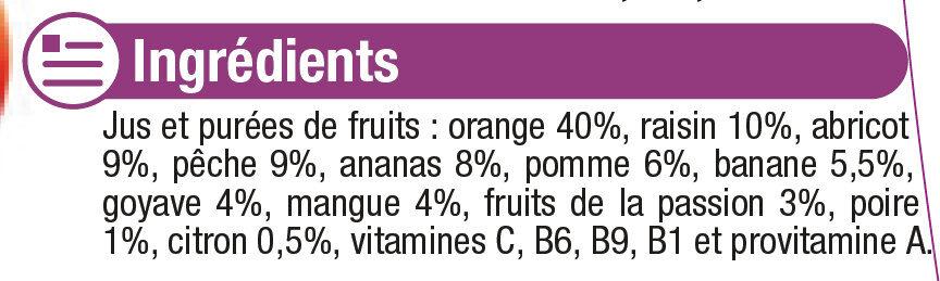 Pur jus cocktail multifruits - Ingrédients