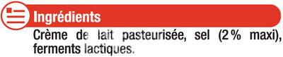 Beurre moulé demi-sel 80%MG - Ingrédients - fr