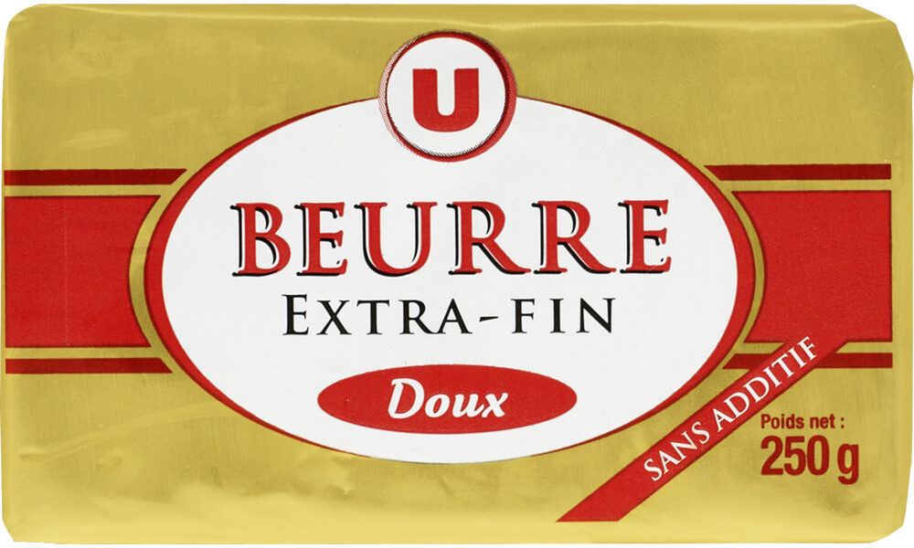 Beurre doux extra fin 82%MG - Product - fr
