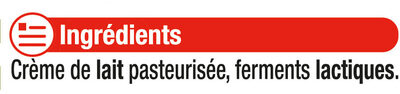 Beurre doux extra fin 82%MG - Ingredients - fr