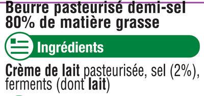 Beurre demi sel - Ingrediënten