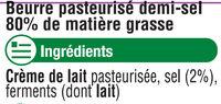 Beurre demi sel - Ingredients - fr