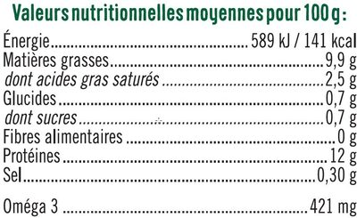 12 oeufs de plein air calibre mixte - Nutrition facts