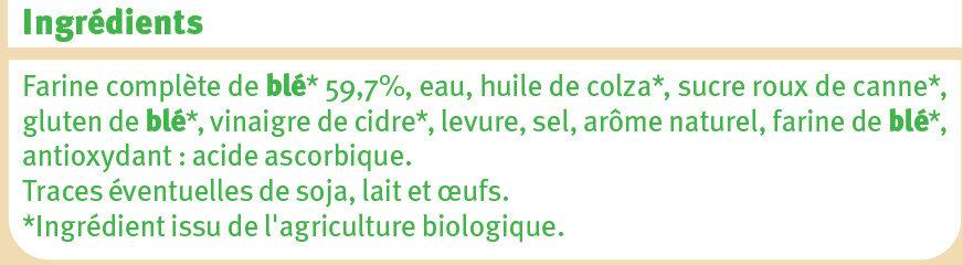 Pain de mie complet issu de l'agriculture - Ingredienti - fr