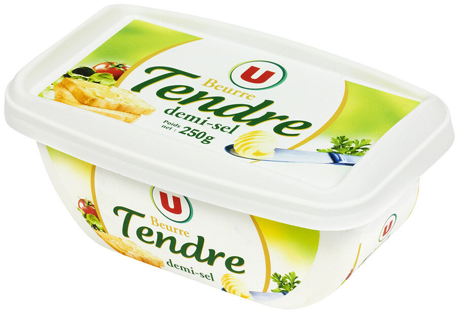 Beurre tendre à tartiner demi-sel 80% de MG - Product