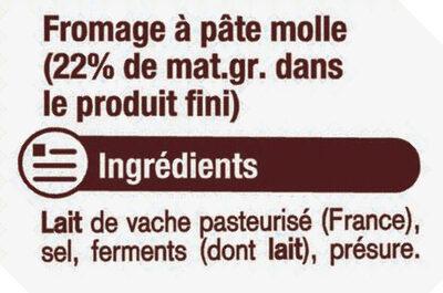 Fromage au lait pasteurisé Le Carré 23%MG - Ingrédients - fr