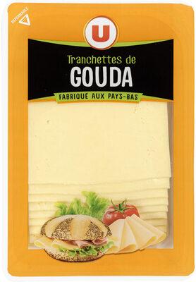Fromage de Hollande à pâte pressée en tranche Gouda au lait pasteurisé 30%mg - Produit - fr