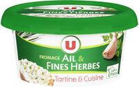 Fromage pasteurisé à tartiner ail et fines herbes 24% de MG - Product
