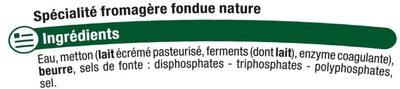 Cancoillotte nature au lait pasteurisé 11% de MG - Ingrédients - fr