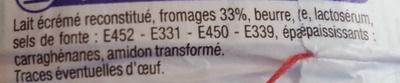 Triangles Fromagés 24 portions (19,5 % MG) - Ingrediënten - fr