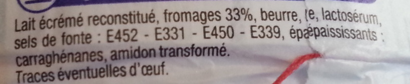 Triangles Fromagés 24 portions (19,5 % MG) - Ingrediënten