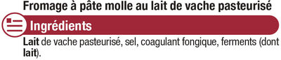 Petit Brie pasteurisé 32%mg - Ingredients - fr
