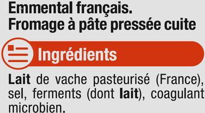 Emmental français pasteurisé, 28% de MG - Ingrediënten