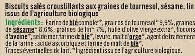 Crackers 3 Graines - Ingredients - fr
