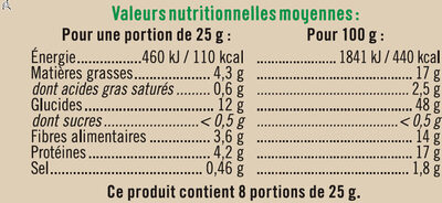 Crackers 3 Graines - Nutrition facts - fr