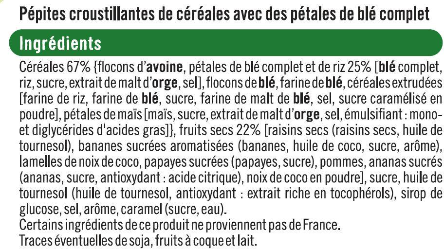 Pépites et pétales aux fruits secs - Ingrédients - fr