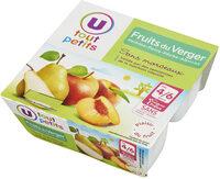 Pots pour bébé dessert pomme fruits du verger - Produit