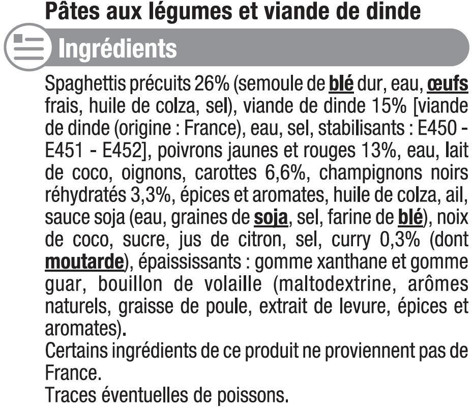 Wok Thaï à la dinde et nouilles - Inhaltsstoffe - fr