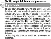 Risotto poulet tomates parmesan - Ingrédients - fr