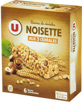 Barres de céréales noisettes - Product