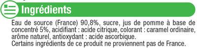 Boisson à base d'eau de source aromatisée au jus de pomme - Ingrédients - fr