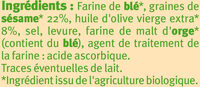 Gressins au sésame - Ingredients - fr