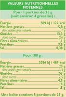 Gressins au sésame - Nutrition facts - fr
