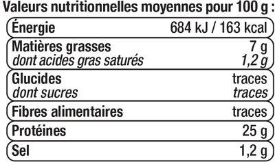 Thon blanc entier huile d'olive - Informations nutritionnelles