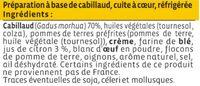 Haché au cabillaud citron - Ingredients - fr