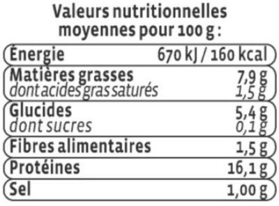 Haché au cabillaud citron - Nutrition facts - fr
