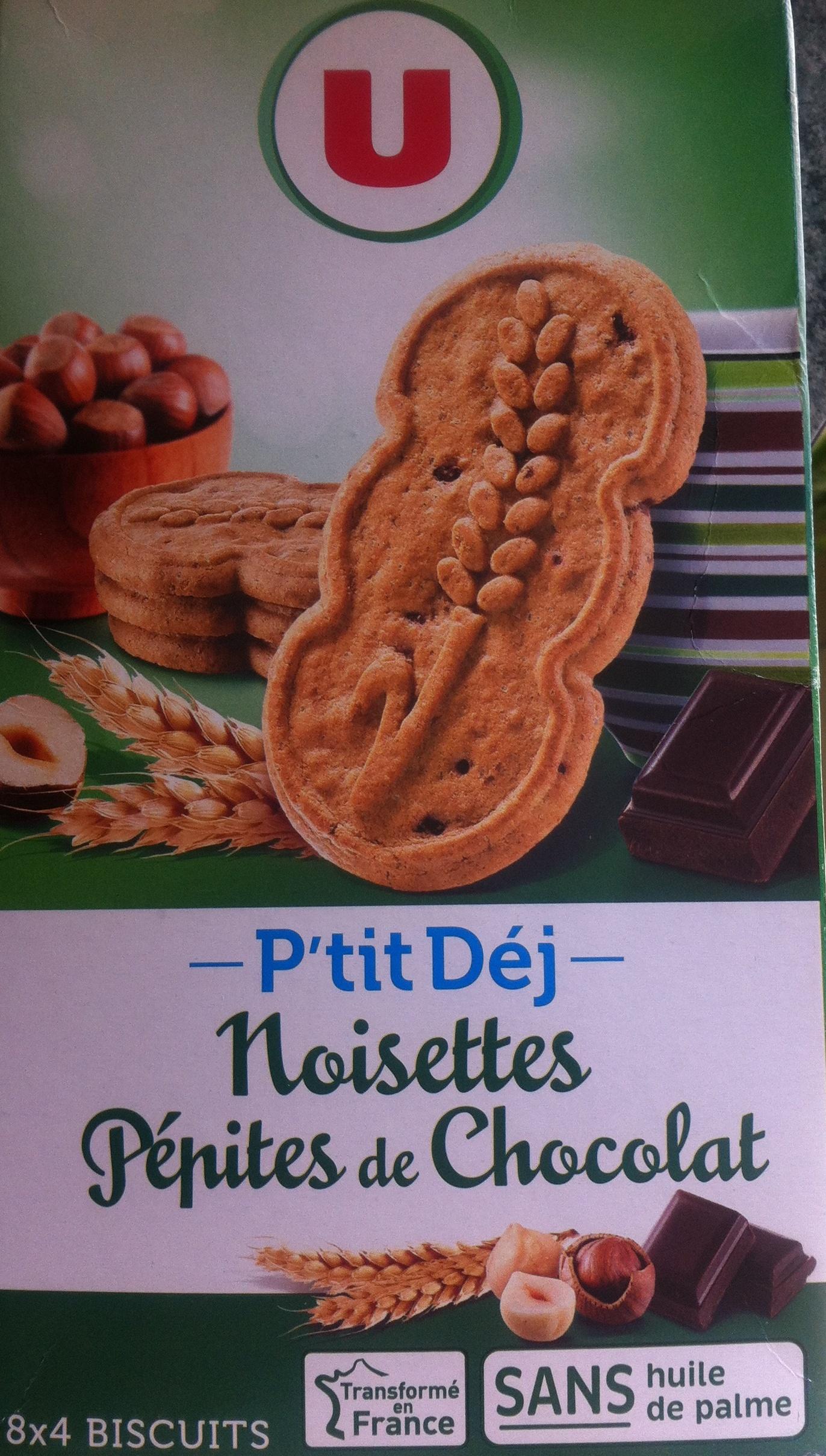P´tit déj Noisettes Pépites de chocolat - Product