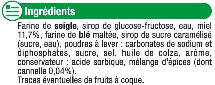 Pain d'Épices au Miel - Ingredients