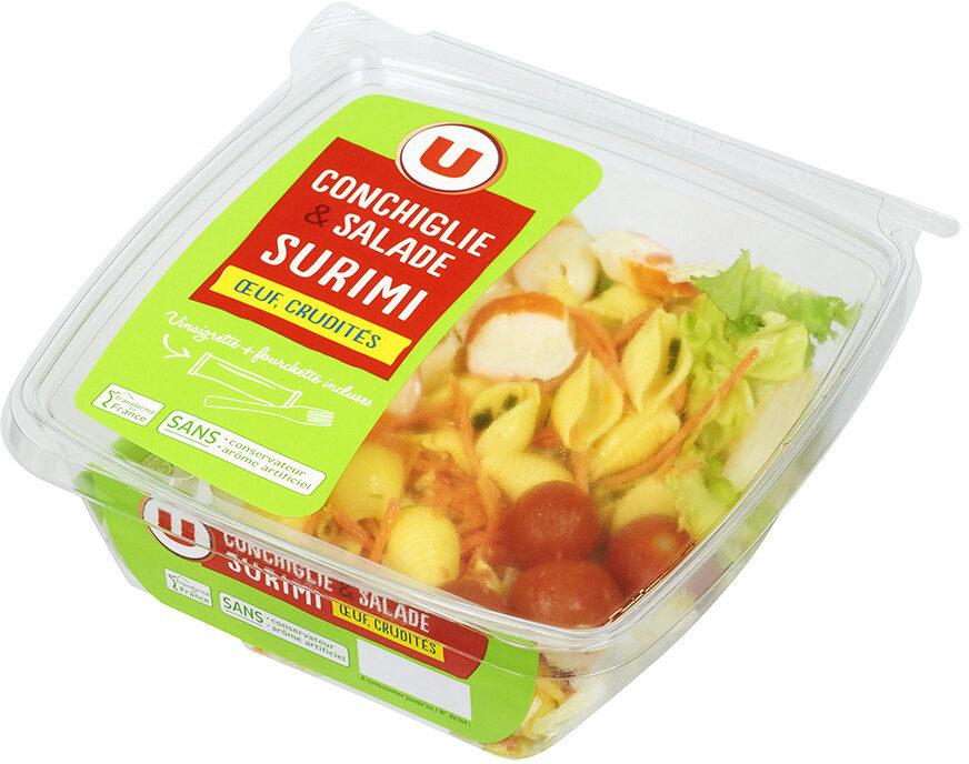 Salade pâtes surimi oeuf et crudités - Produit - fr