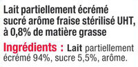 Lait UHT Arôme Fraise - Ingredients