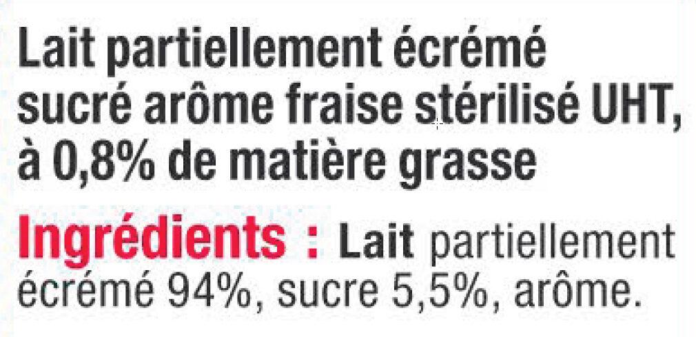 Lait UHT Arôme Fraise - Ingredients - fr