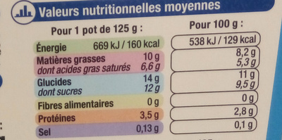 Rêve de Lait vanille - Nutrition facts