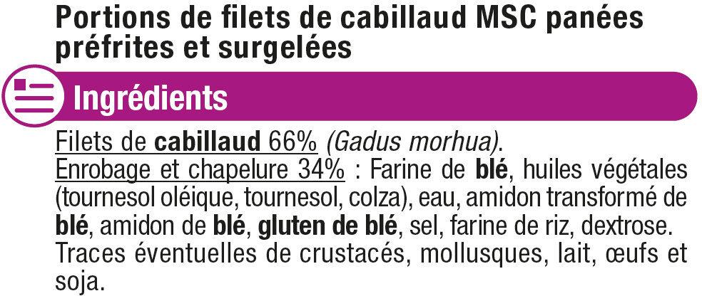 Panés de cabillaud - Ingredients