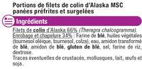 Panés de colin d'Alaska - Ingredienti - fr