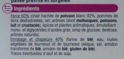 Croquettes de poisson - Ingredients