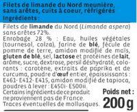 Filet de limande du Nord meunière - Ingredients - fr