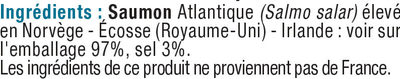 Lardons de saumon fumé d'Atlantique - Ingredients