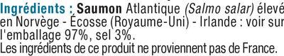 Lardons de saumon fumé d'Atlantique - Ingrédients