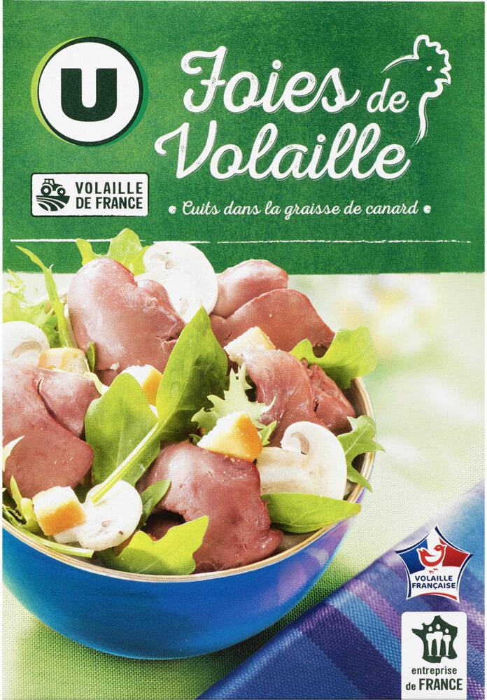 Foies de volaille confits cuits dans la graisse de canard - Produit - fr
