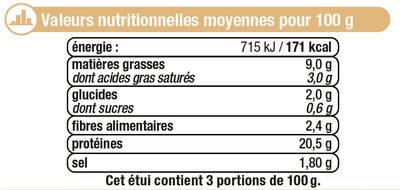 Foies de volaille confits cuits dans la graisse de canard - Nutrition facts - fr