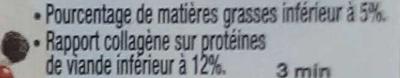 Steak haché pur bœuf - Informations nutritionnelles - fr