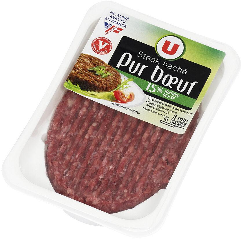 Steak haché, 15% MAT.GR. - Produit