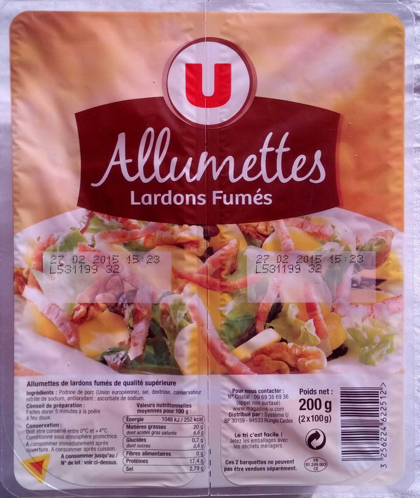 Allumettes Lardon Fumés - Produit - fr