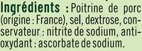 Lardons nature qualité supérieurs - Ingrédients - fr